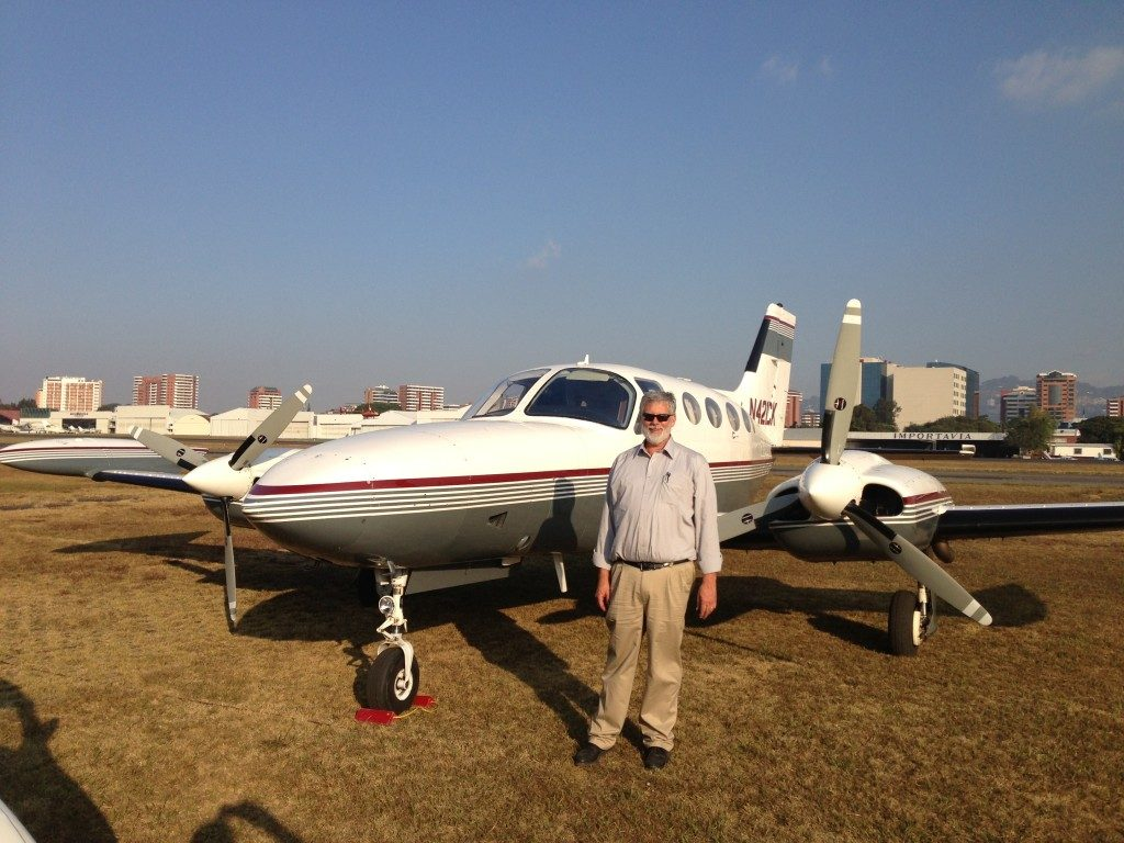 Randy Baumann with a Cessna Golden Eagle 421